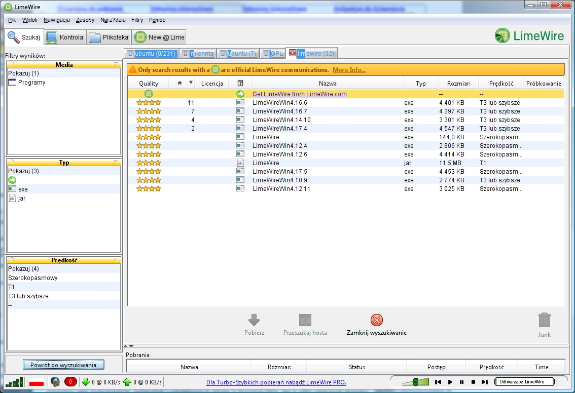 Limewire pro 4 18 8 1 turbo charged connection