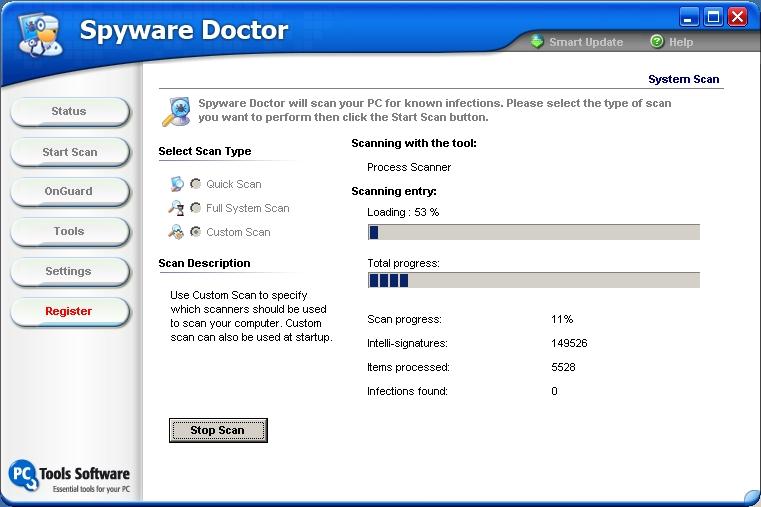 1646 Просмотров 2565 Комментариев 0. Spyware Doctor - программа д…