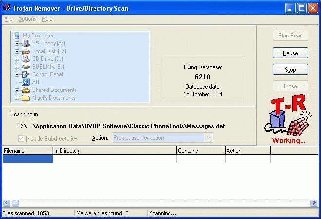 Trojan Remover удаляет с компьютера троянских коней и сетевых червей.