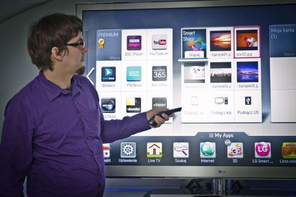 Mariusz Koryszewski i LG Smart TV na 2012