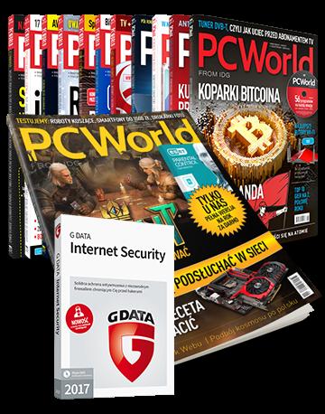 PC World drukowany+ PDF - prenumerata roczna + GData Internet Security